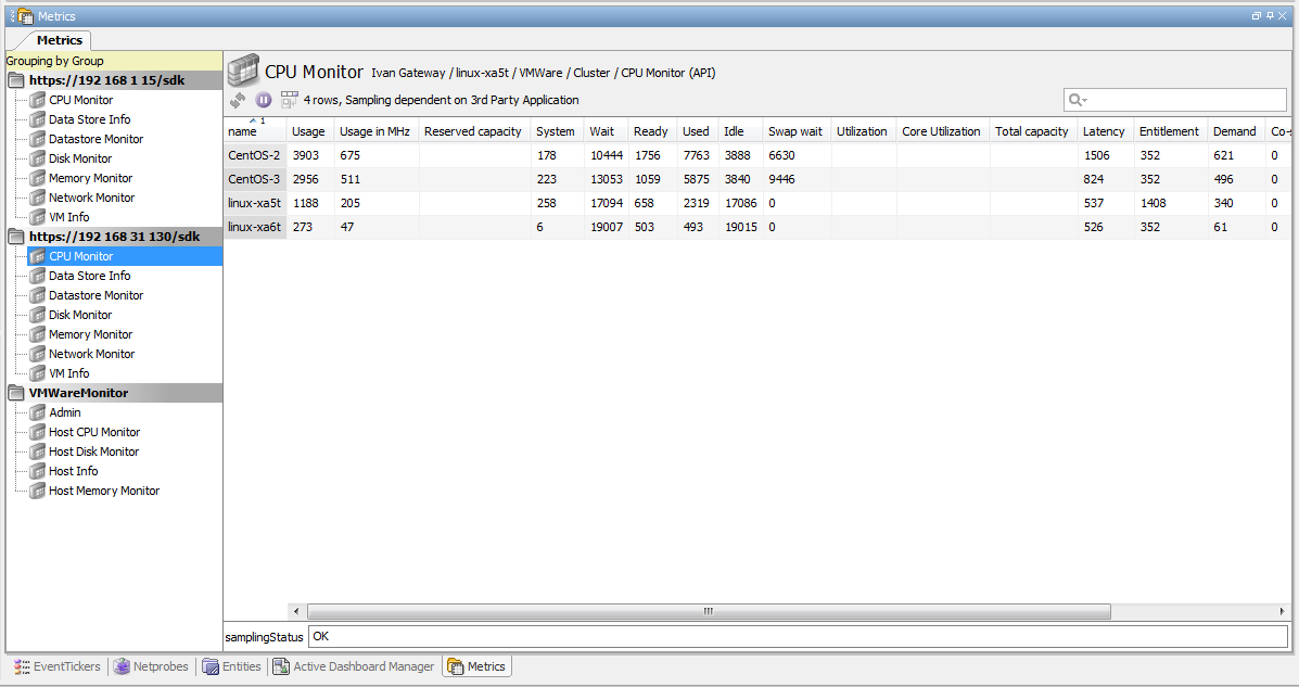 VMWare Monitoring Plug-In